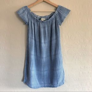 {Cloth &Stone} Chambray off the shoulders Dress{M}